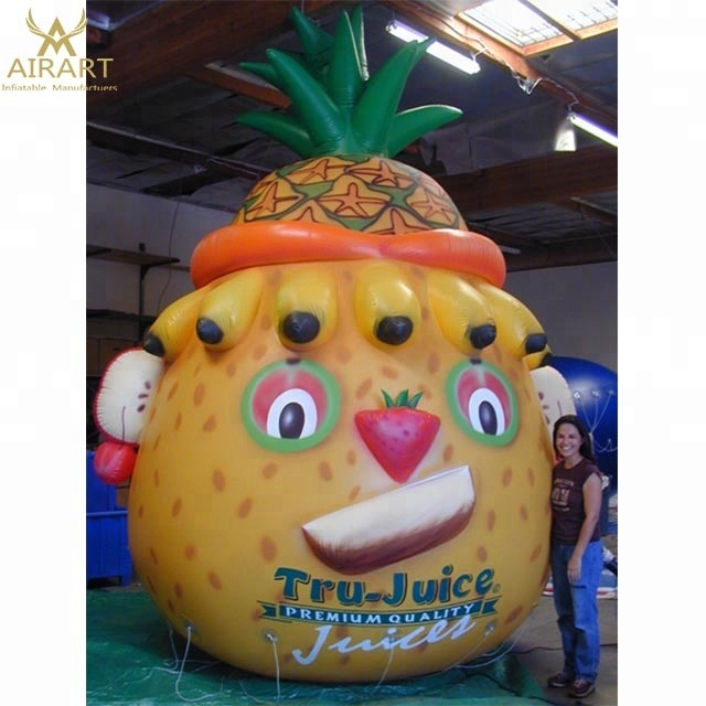Opblaasbare fruit cartoon mascotte reclame