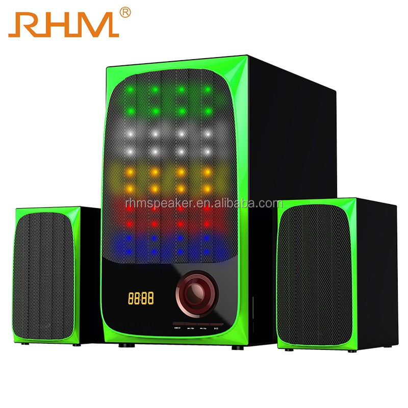 multiple colors led high quality loudspeakers superior flashing multimedia bluetooth speaker for home