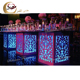 top grade indian led rame glass 8 seaters wedding table