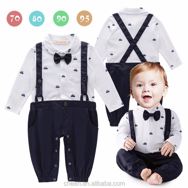 Ht-jjb Fancy Soft Cute Wedding Boy Suit Wholesale Kids Romper Long ...