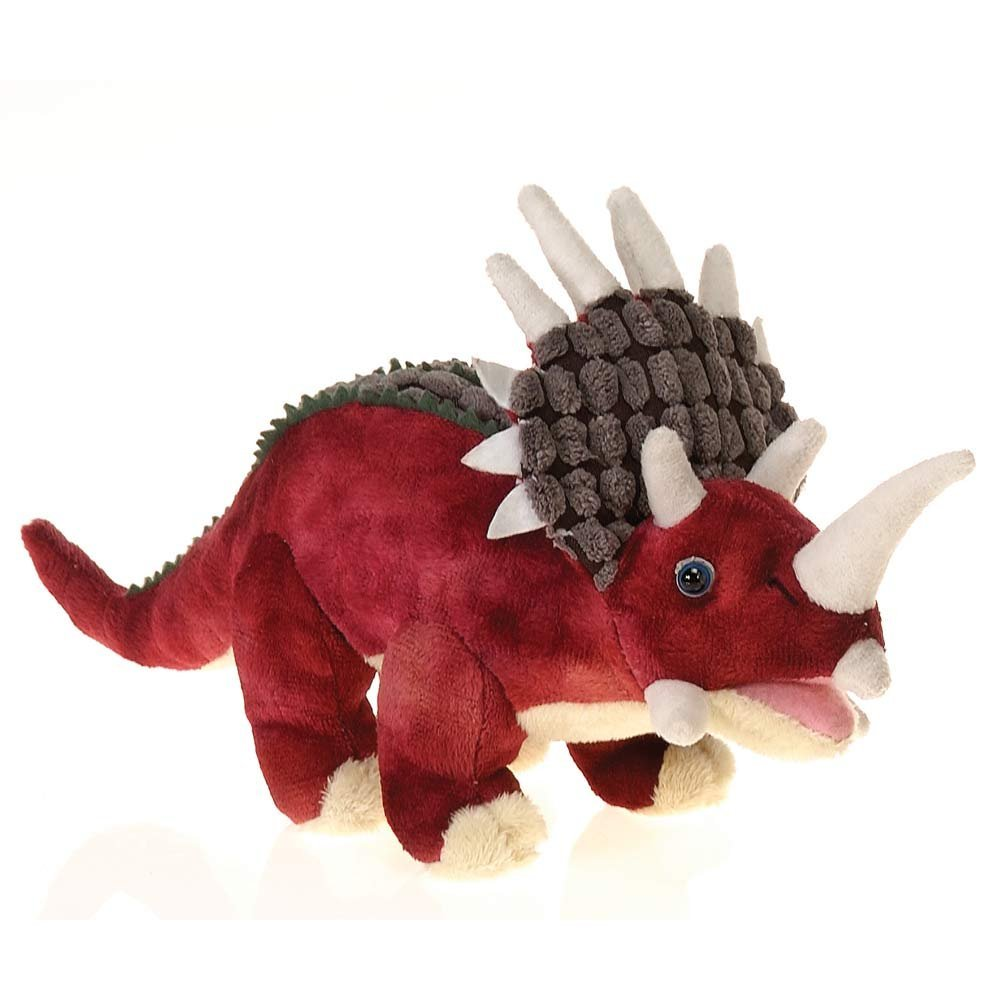 Fiesta Toys Red Triceratops Dinosaur Plush Stuffed Animal Toy - 11 Inches