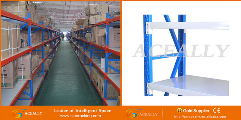 Long Span Medium Duty Warehouse Storage Rack