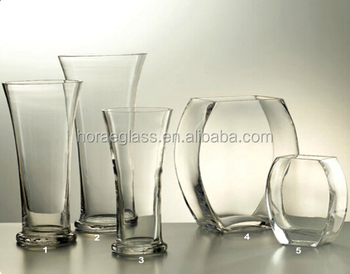 Handmade Clear Special Shaped Glass Vase Flat Round Flower Decoration Glassware Buy Handmade