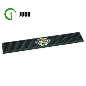 2018 3D Brand Logo Flexible Rubber Silicone Water-proof Bar Mat Manufacturer