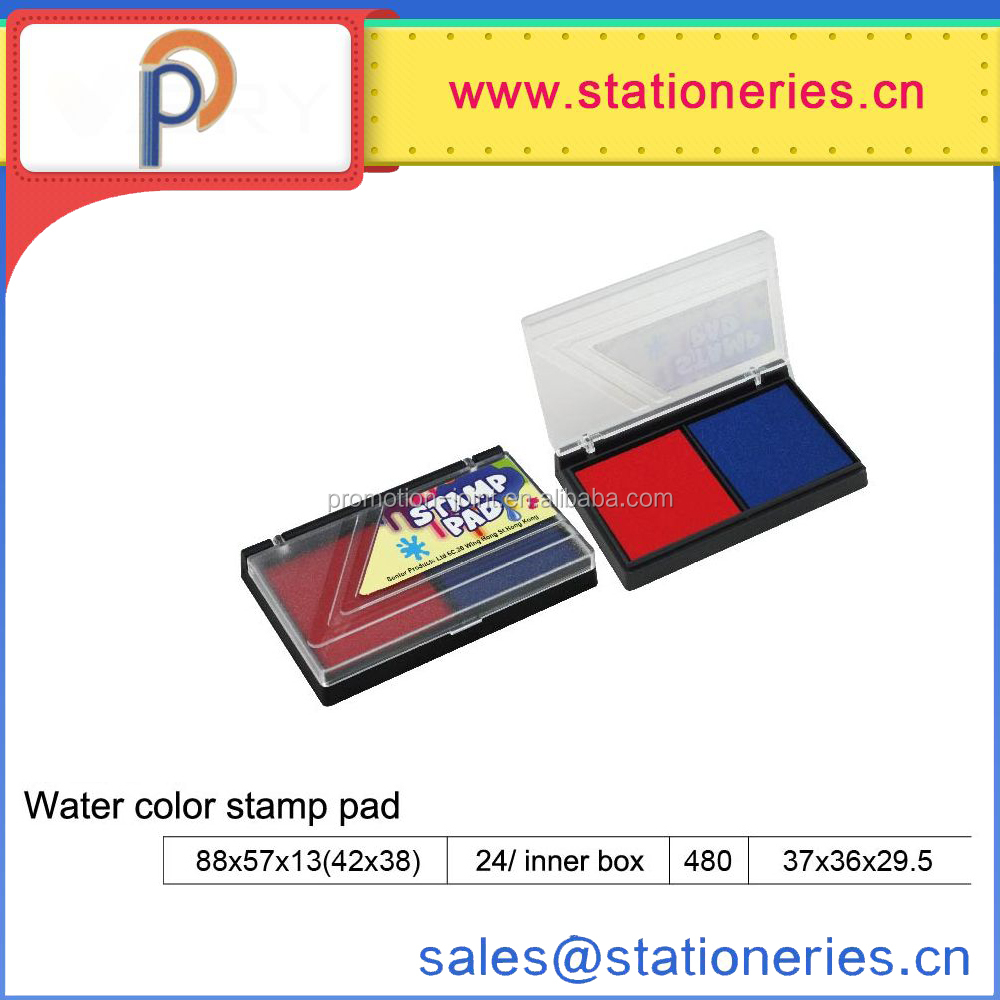 wholesale Double color dry ink Plastic stamp pad