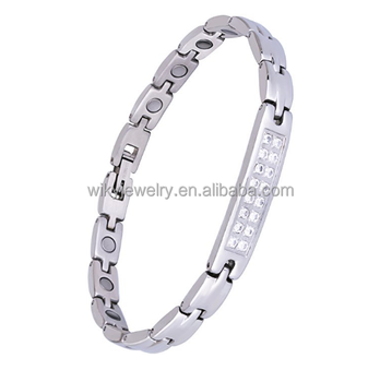 Sparkling Fashion Whole Athenaa Jewelry Arthritis Diamond Magnetic Copper Bracelet For Women