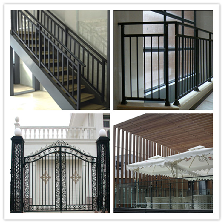 Galvanized Square Pipe/rhs Steel Pipe Railing Design For ...