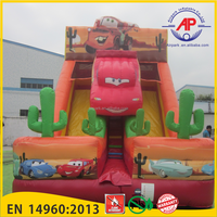 Crazy Cars Inflatable double slide