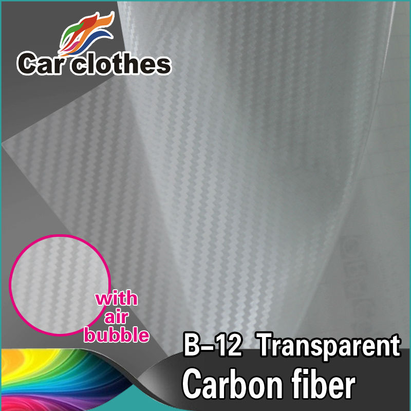 1.52*30m Air Free Bubbles 3D Carbon Fiber Car Cover Vinyl