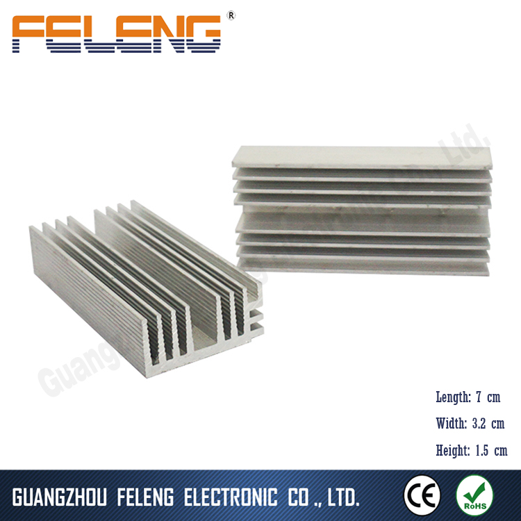 custom aluminium enclosure anodized heat sink pin extruded pin design for led pcb