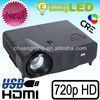 android 4.0 OS RJ45 port wifi 1280*768 native hd led portable projector best effect