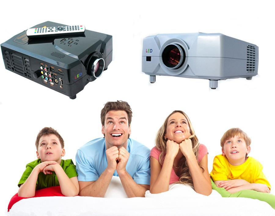 Support 1080p Led 3D Projector For Home Use With hdmi usb vga tv Tuner