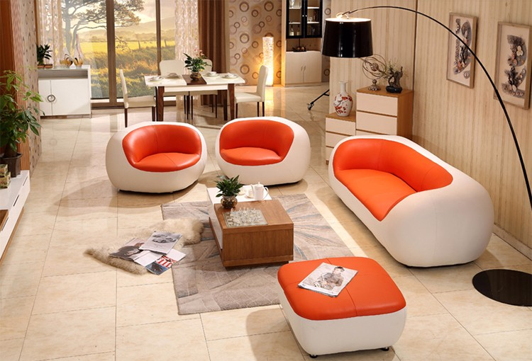Modern Designs Fashionable Living Room Furniture 7 Seater Sectional Sofa Low Price Leather Set