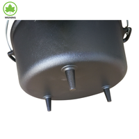 Black Oil Preseasoned Cast Iron Dutch Oven With Lid for Camping