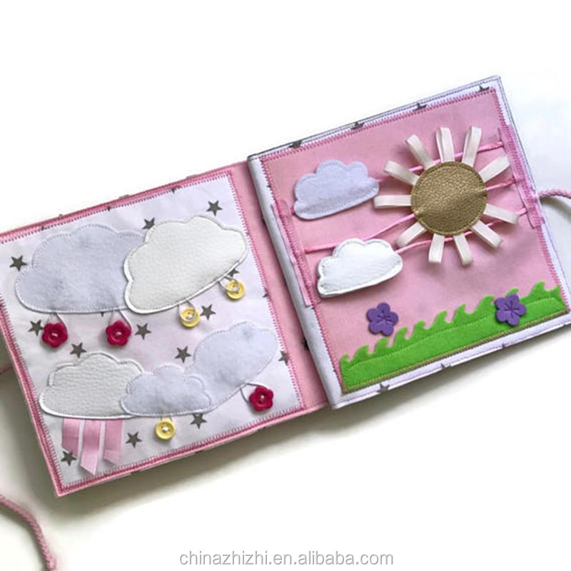 handmade baby memory felt fabric quiet book funny baby gift educational toy for baby toddler cloud cloths book