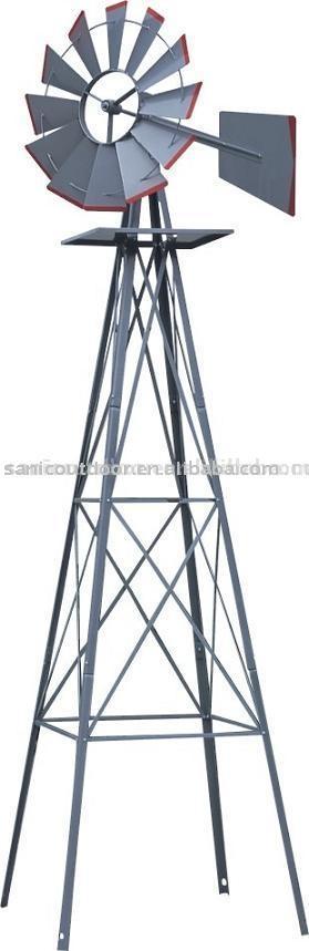 Pies de metal jard n molino de viento artesan a metal for Molinos de viento para jardin
