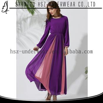 Md10014 Simple Muslim Evening Dress Maxi Dress Baju Pesta Muslim ...