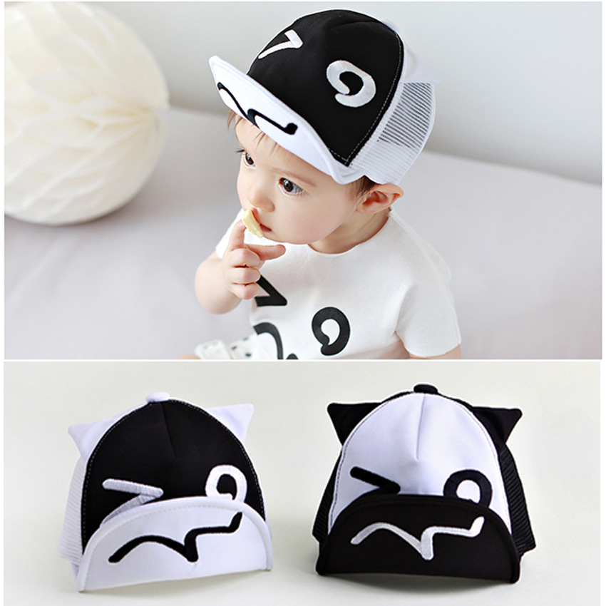 2016 kids cartoon baseball caps baby lovely peaked cap hats