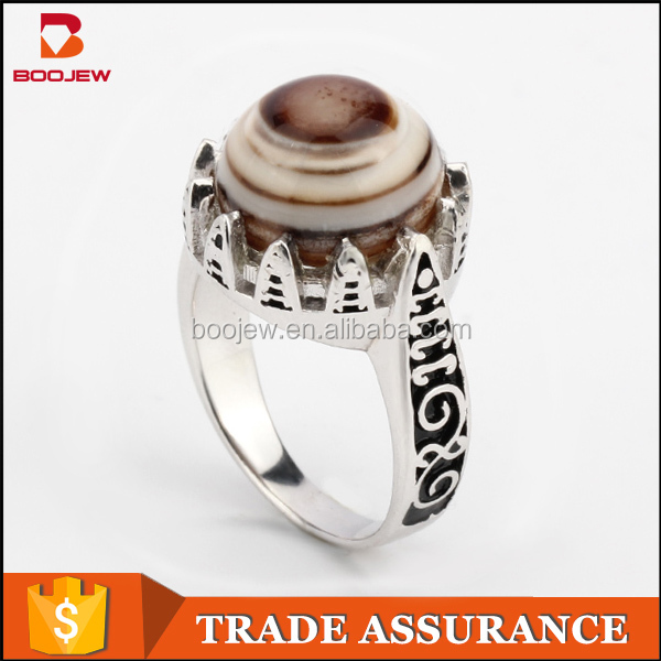 China factory direct wholesale Islamic jewelry 925 sterling silver ring for Muslim men