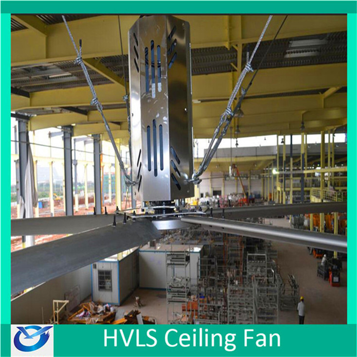 415v 1.5kw Industrial ceiling fan with light