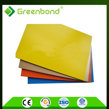 Greenbond innovation designs building cladding design pe / pvdf core acp prices with perfect quality