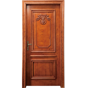 HS-YH8050 luxury unique home designs interior decorator solid wooden door
