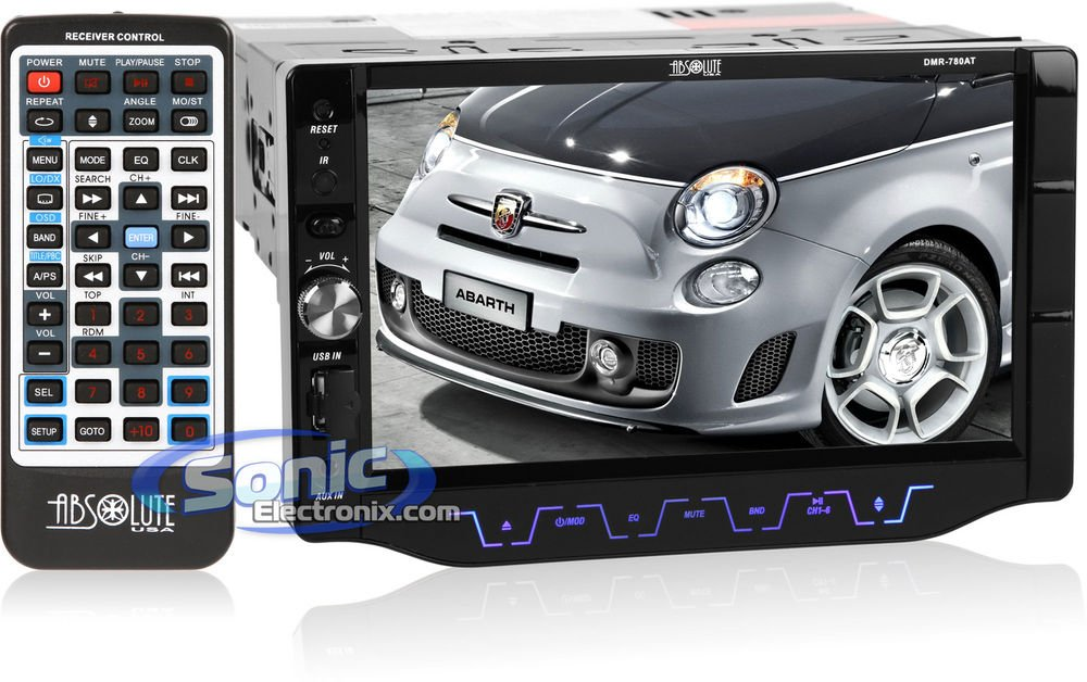 Absolute USA DMR-780 Multimedia Receiver Compatible with DVD//VCD//MPEG4//MP3//CD//CD-R//CD-RW
