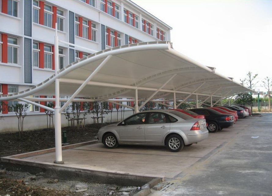 Light Steel Space Frame Car Parking Shed Canopycar Garage Buy Car