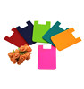 Factory silicone credit card holder adhesive 3m 300lse sticker pouch for phone