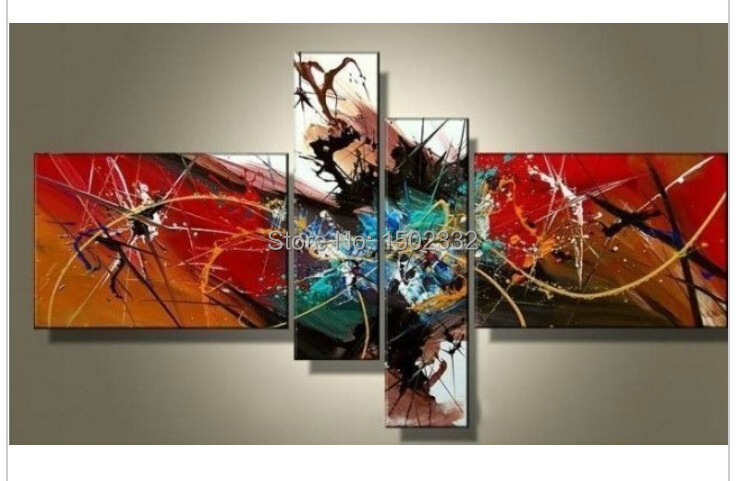 3pieces Modern Abstract Huge Wall Art Oil Painting On: Handmade 3 Piece Modern Abstract Wall Art Oil Painting On