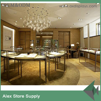 Modern Gold Jewellery Shop Interior Design Idea For Shops