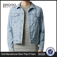 Spring Autumn Fashion Casual Man Denim Jacket Washed Denim Jackets For Men