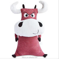cute red bull plush toy custom cute plush toy for baby 3 years