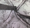 French Black Stretch Silk Embroidery Mesh Lace Fabric