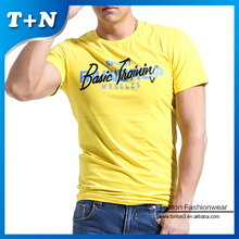 Gold Supplier most Popular Cool Men Dyed Custom T Shirts With Screen Printed Logo
