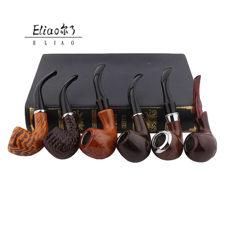 Yiwu Erliao China supplier weed pipe hot sales smoking pipes wood a set