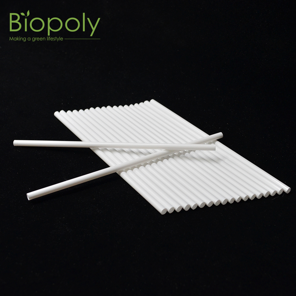 Biodegradable White Straight PLA non Plastic Bar Drinking Straw