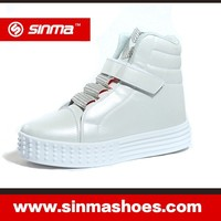 Young Girl White Thick Heel Flats Casual Shoe