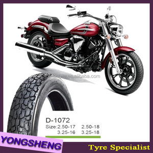 Motorcycle Tire Dunlop Pattern 3.00-17 D1072