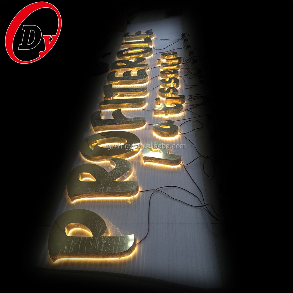 Custom Lighted Outdoor Business Letter Signs Illuminated Led Backlit  Reverse Channel Sign Letters - Buy Reverse Channel Sign Letters,Ul Led  Channel