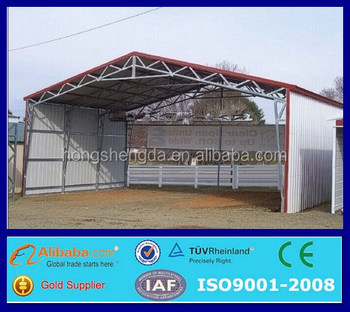 Low Cost Prefab Mobile Garage Vehicle Canopy Carport Cowshed - Buy ...