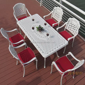 Hot Heavy Duty All Weather Rust Free Cast Aluminum Outdoor Patio Furniture