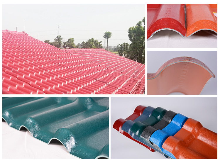 High Weathering Engineering Resin Plastic Spanish Synthetic Resin Recycled Roof Tile