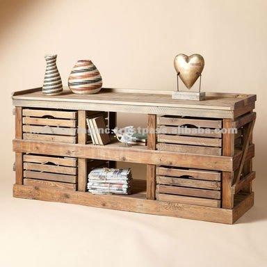 Muebles de madera reciclada otros decoraci n del hogar for Muebles de madera reciclada