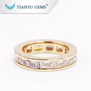 Tianyu Gems customized forever one moissanite ring 14k/18K moissanite engagement wedding ring