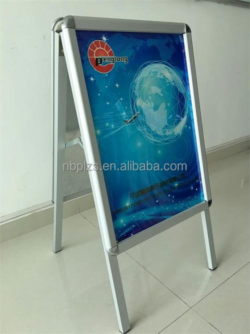 Advertising pavement sign,snap frame pavement sign outdoor,metal material ad sign frame a1