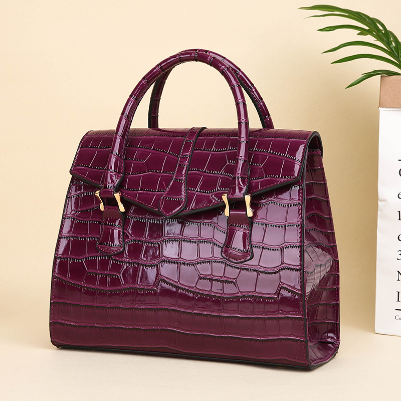 top quality China wholesale ladies formal patent leather trendy women handbag