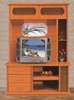stable wooden functional stand lcd tv cabinet with showcase