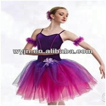 Hot girls elegant ballet stage costume adult ballet costume beautiful western dance dress for girls