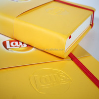 high quality customized nice emboss cover moleskin notebook